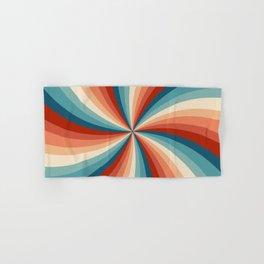 Colorful retro style sun rays Hand & Bath Towel
