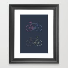 Love your bike Framed Art Print