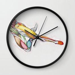 Sideways, female dancer anatomy, NYC artist Wall Clock