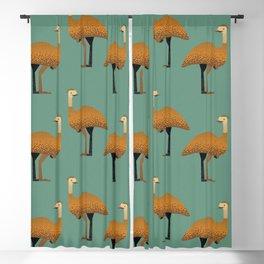 Whimsy Emu Blackout Curtain