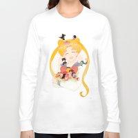 sailor moon Long Sleeve T-shirts featuring Sailor Moon by cezra