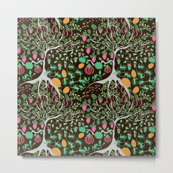 Fairy floral pattern unusual plants, trees and flowers Metal Print