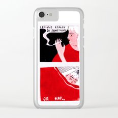 I Should Really Do Something (Or Nap) Clear iPhone Case