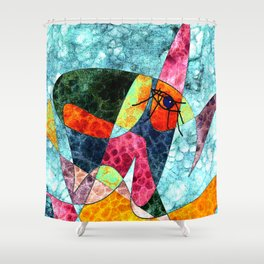The laughing horse Shower Curtain