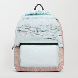 Pastel beach Backpack