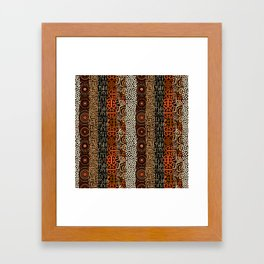 Geometric African Pattern Framed Art Print
