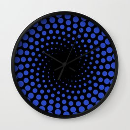 spiral in blue Wall Clock