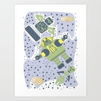 The Wanderin' Space Walrus Art Print