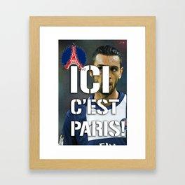 Ici c'est Paris! colors urban fashion culture Jacob's 1968 Paris Agency for Pastore psg supporters Framed Art Print