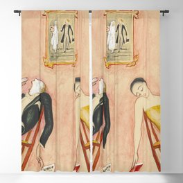 Family Idyll; Love and Marriage and Other Common Disasters portrait painting by Nils Dardel Blackout Curtain