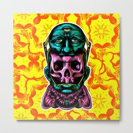 Face helmet Color Metal Print