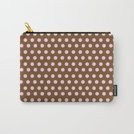 Pink & Brown dot Carry-All Pouch