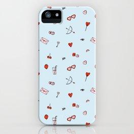 Lovestruck | Blue Background iPhone Case