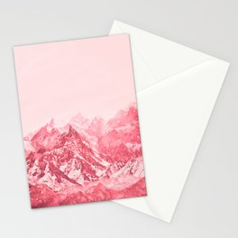 Mountains Red Stationery Cards