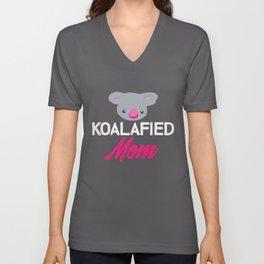 Koalafied Mom | Koala Koalas Mother Mommy Bear Unisex V-Neck