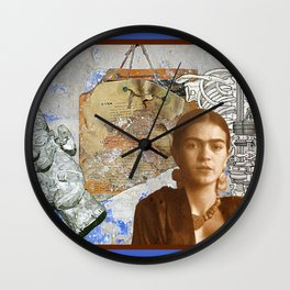 Portrait of Frida - Oven Instructions Wall Clock