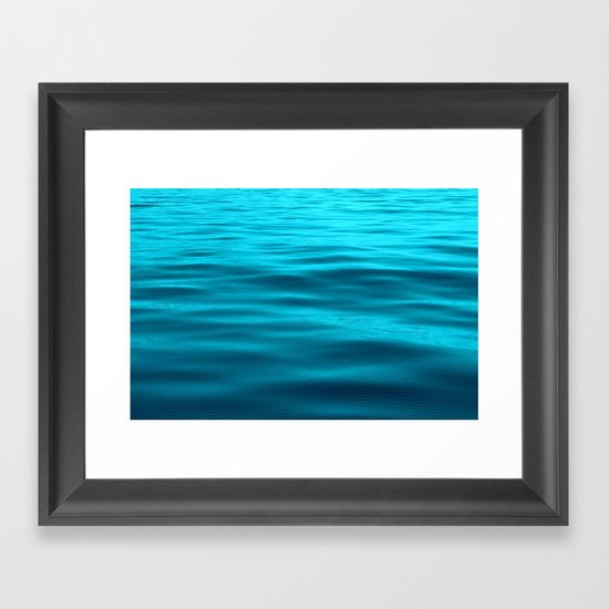 Water : Teal Tranquility Framed Art Print