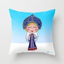 Rusian girl Throw Pillow