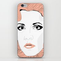 stevie nicks iPhone & iPod Skins featuring Stevie by IN SEARCH OF GOOD THINGS