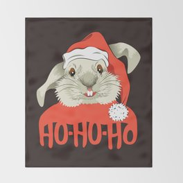 The Christmas Rabbit Throw Blanket