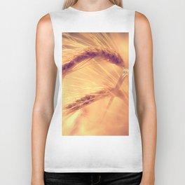 Summer romance in the grain field Biker Tank
