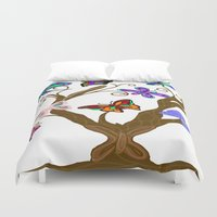 murakami Duvet Covers featuring The Butterfly Tree by Marcy Murakami