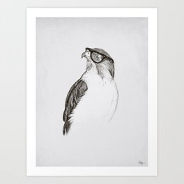 Hawk with Poor Eyesight Art Print