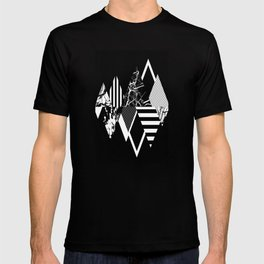 STAND OUT! In Black And White - Abstract, textured geometry! T-shirt