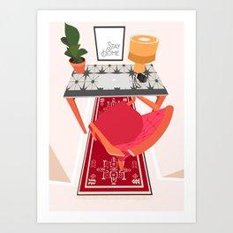 Workspace At Home Art Print Art Print