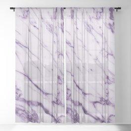 Violet Marble Design Sheer Curtain