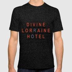 Divine Lorraine Hotel LARGE Tri-Black Mens Fitted Tee