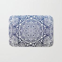 Blue Gradient Mandala Bath Mat