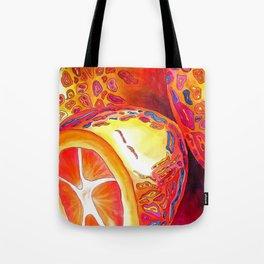 Orange kumquat citrus pop art watercolor fruit Tote Bag