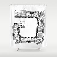 street Shower Curtains featuring Street by JessicArt