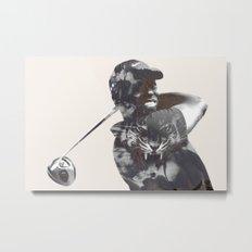 Sir Tiger Woods Metal Print