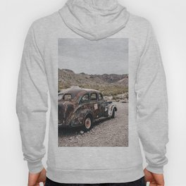 Old vintage car truck abandoned in the desert Hoody