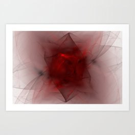 Folds in Red (Red series #12) Art Print
