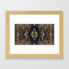 Kaleidoscopic Self Portrait Framed Art Print