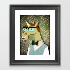Heard I'm a Nerd Framed Art Print