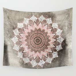 BOHOCHIC MANDALA IN CORAL Wall Tapestry