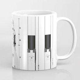 NASA SpaceX Crew Dragon Spacecraft & Falcon 9 Rocket Blueprint in High Resolution (white) Coffee Mug