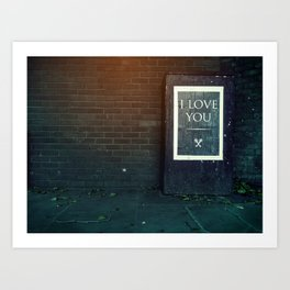 London ILY Sign Art Print