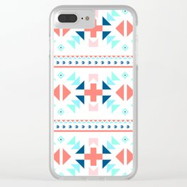 geometry navajo pattern Clear iPhone Case