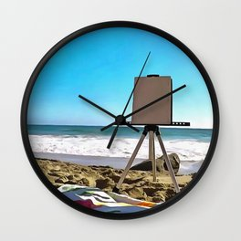 Paint On The Beach Wall Clock