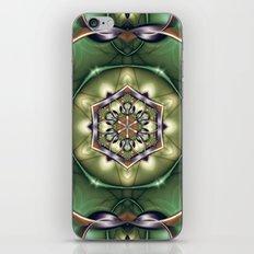 Mystery Mandala in Green iPhone & iPod Skin