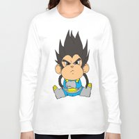 vegeta Long Sleeve T-shirts featuring Monkey Vegeta by Kame Nico