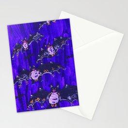 Blue Midnight Bats Stationery Cards