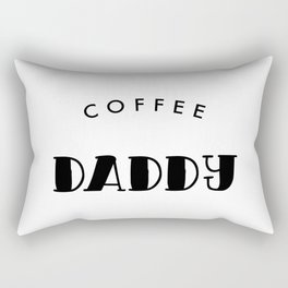 Coffee Daddy Black Typography Rectangular Pillow
