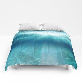 Light Rays Underwater Comforters