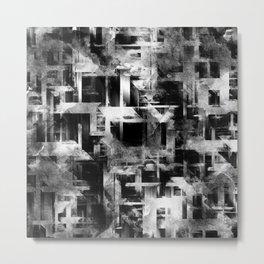 Glitch Panda 10 Metal Print